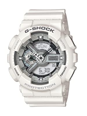 Casio Men's GA110C-7ACR G-Shock Large White Analog-Digital Multi-Function Sport Watch