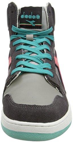Alte Unisex 80 Adulto Castello Diadora Rosso Cayenne Sneaker Basket Act Grigio cWIOcB6pq