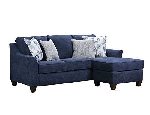 Simmons Upholstery 4330-03SC Prelude Navy Sofa Chaise,