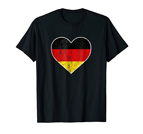 Flag German Heart (I Love Germany Cute Flag Heart German Deutschland T Shirt)