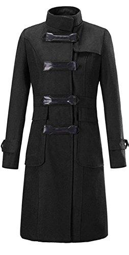 Chaud Types Mélange veste Cuir En Déduction Manteau Blansdi Quatre Noir  Classique Avec Laine parka Moulante Fashion ... c90a211c884