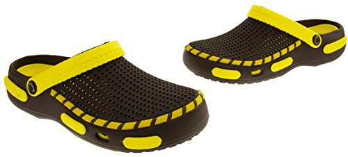 Coolers Mens Beach Clog Sandals Yellow 11 D(M) US by Coolers (Image #6)