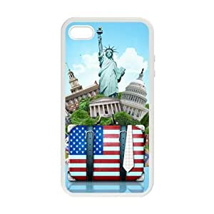 American Flag Statue Case for iPhone 5 5s case cover