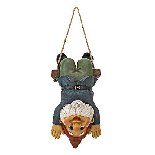 (Garden Gnome Statue - Alfie the Acrobat Swinging Gnome - Outdoor Garden Gnomes - Funny Lawn Gnome Statues)