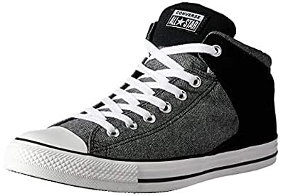 Converse Chuck Taylor All Star High Street Unisex Sneakers, Black/White/Black, 5 US