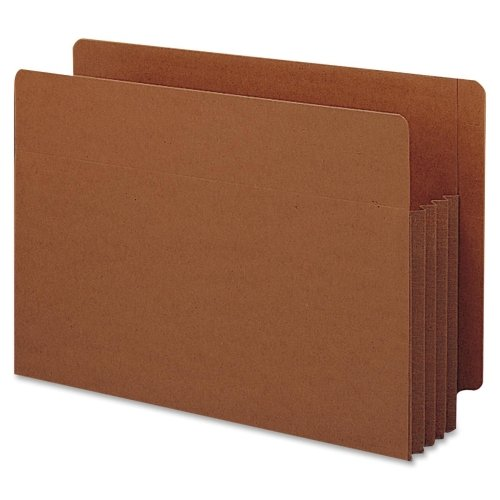 Wholesale CASE of 5 - Smead Tuff Pocket End Tab File Pockets-End Tab File Pockets, 3-1/2'' Exp, 10/BX, Legal, Red