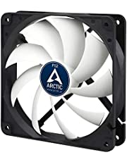 ARCTIC F12 – 120 mm Ventilador de Caja para CPU, Motor Muy Silencioso, Computadora, 1350 RPM – Gris/Blanco