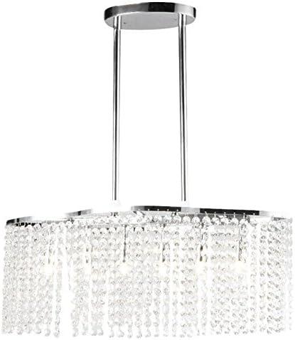 Whse of Tiffany RL1366 6 Tee Crystal 6-Light Chrome Chandelier