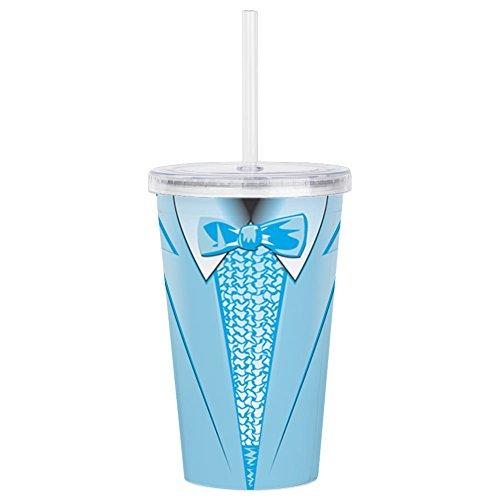CafePress - Powder Blue Tuxedo - Insulated Straw Cup, 20oz Acrylic Double-Wall -