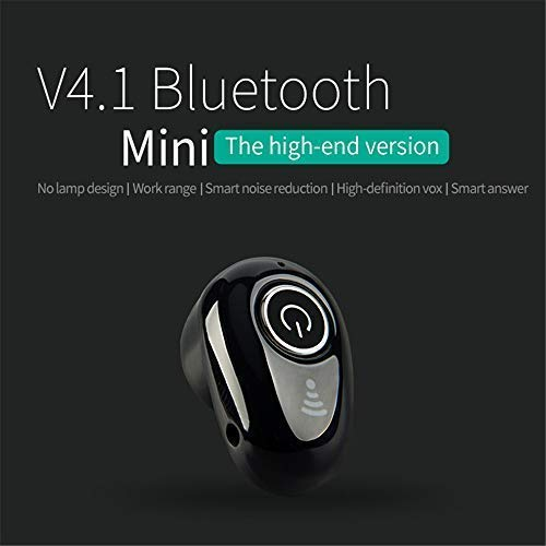 Wireless Earbuds Mini Bluetooth Headphones Mini Earphone Earbud Headset Headphone Support Hands-Free Calling for iPhone Samsung Xiaomi Sony Lenovo HTC LG and Most Smartphone (Black)