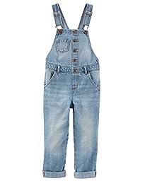 OshKosh B\'gosh Little Girls\' Denim Overalls - Sunbleached Blue Wash - 6 Kids