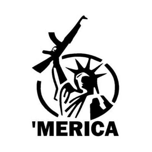(America Statue of Liberty with Gun Merica Murica Decal (17 Sizes and 20 Colors) 009)