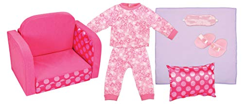 """Kindred Hearts Dolls 18"""" Sofa Bed with Pajamas"""