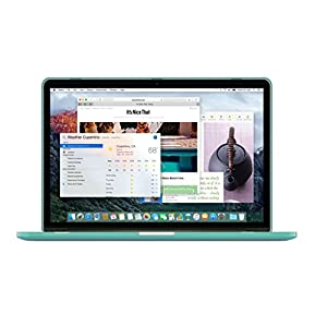 "UESWILL 2in1 Smooth Soft-Touch Matte Hard Shell Case with Keyboard Cover for (Late 2012-Early 2015 Version) MacBook Pro 13"" with Retina Display (No CD-ROM) (Models: A1502/A1425), Green"