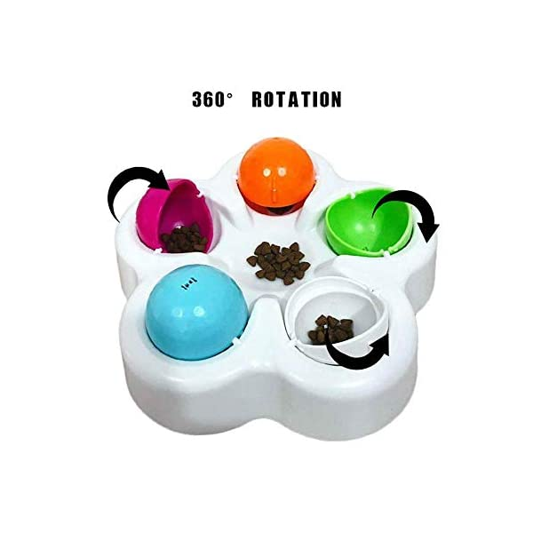 KOBWA Unique Dog Puzzle Toy, Pet Puzzle Feeder Bowl, Fun Interactive IQ Game to Hide Treats in - Improve Concentration - Reduce Hyperactivity, Puzzle Smart Toys for Small Medium Large Dogs Cats 3