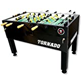 Tornado Foosball Table - Made in The USA - Commercial Tournament Quality for The Home - Made by Valley Dynamo - Incredible Table Soccer Game (Tournament 3000-3 Man Goalie, Black)