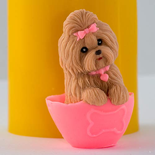 Silicone soap Mold Little Dog 3D