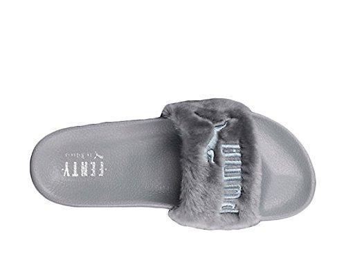 FENTY X Puma X Rihanna Leadcat Fur Slide Women's Sandals (Women 8.5US, grey)