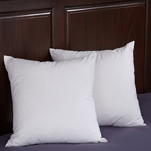 [Puredown White 95% Goose Feather and 5% Goose Down Pillow Insert 18x18