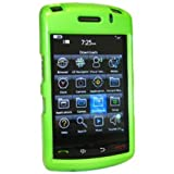 Amzer AMZ20257 Polished Snap on Crystal Hard Case for BlackBerry Storm 9530/9500 (Neon Green)