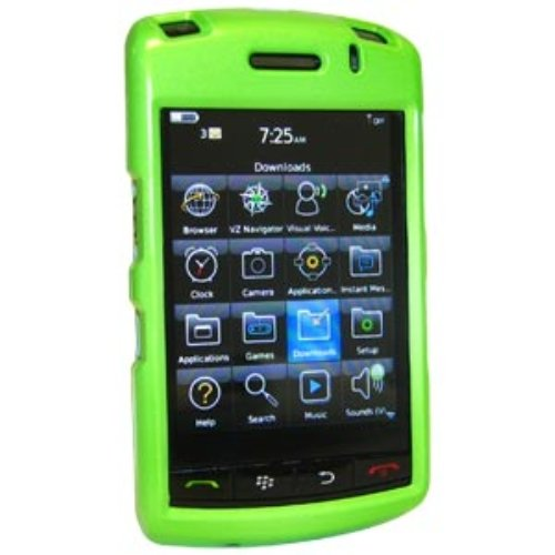 Amzer Polished Snap-On Crystal Hard Case for BlackBerry Storm 9530/9500 - Neon Green ()