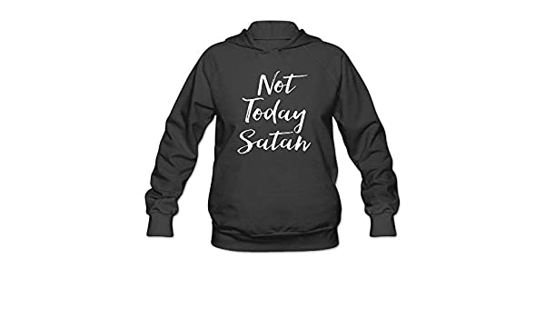 Womens Long Sleeve Cotton Hoodie Not Today Satan Good.PNG Sweatshirt: Amazon.es: Ropa y accesorios