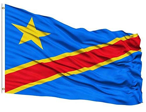 (DFLIVE Republic of Congo Country Flag 3x5 ft Printed Polyester Fly Republic of Congo National Flag Banner with Brass Grommets)