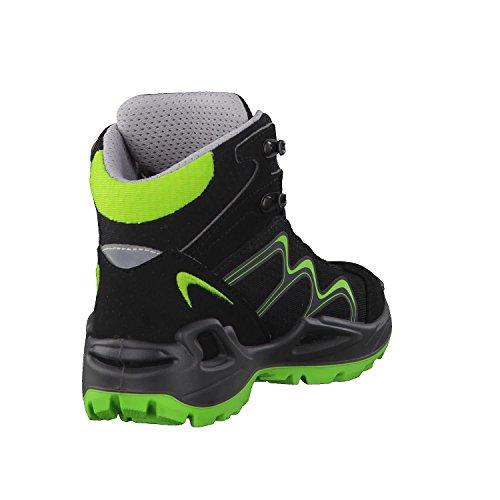 Lowa Approach GTX Mid Junior, Stivali da Escursionismo Unisex-bambini Nero (nero)