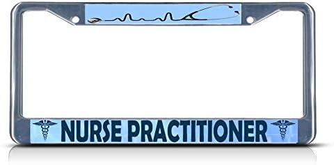 Fastasticdeals Nurse Practitioner License Plate Frame Tag Holder Cover