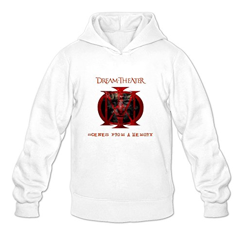 Dream Theater Red Logo 100% Cotton Hoodies For Men White S Simple Style - Donald Glover Style