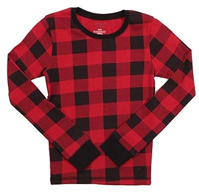 #followme Family Pajamas Buffalo Plaid Button-Front Microfleece Pajamas Set with Matching Socks
