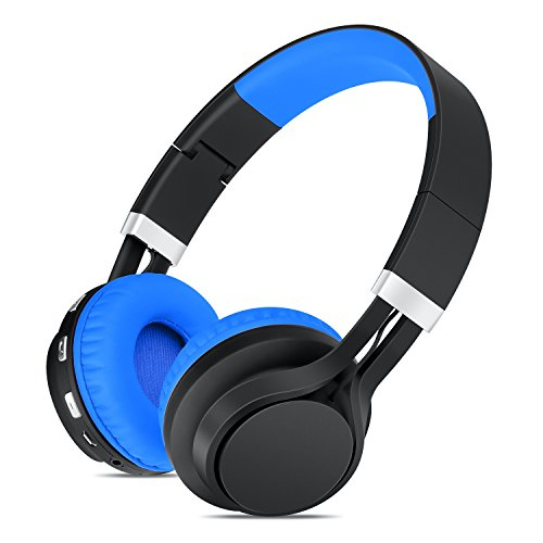 sound intone bt 02 wireless bluetooth headphones over ear stereo folding with volume control and. Black Bedroom Furniture Sets. Home Design Ideas