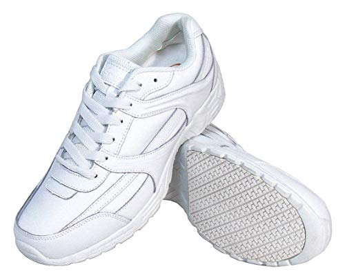 4''H Women x27;s Athletic Shoes, Plain Toe Type, Leather Upper Material, White, Size 7 by Genuine Grip (Image #1)