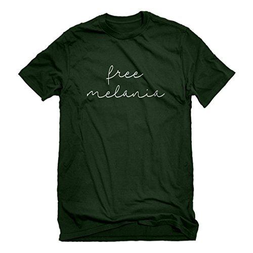 Indica Plateau Mens Free Melania Now Medium Forest Green T-Shirt