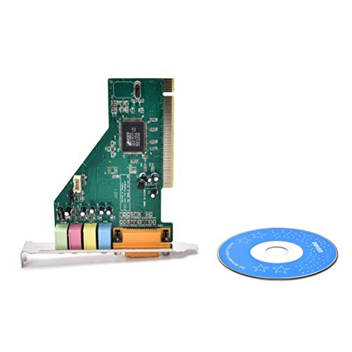 Cables & Connectors Hot 4 Channel 5.1 Surround 3D PC PCI Sound Audio Card w/Game MIDI Port Sound Card for PC Windows XP/7/8/10 - (Cable Length: Other)