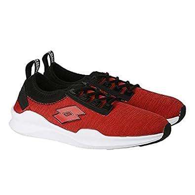 Amazon.com | Lotto Men&'s Amerigo Red/Black Running Shoes