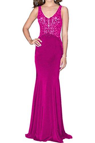 Jugendweihe La Braut mia Ballkleid Royal Promkleider Blau Spitze Festkleider Abschlussballkleider Pink Abendkleider Langes Kleider n8r8xwqT5f