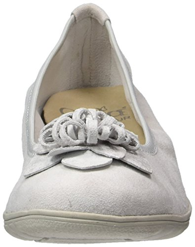 Caprice Damen 22153 Geschlossene Ballerinas Grau (LT GREY COMB)