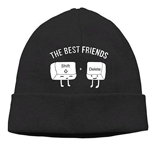 Costume Backwards Hat (Uanjuzn Computer Keyboard Best Friends Men/Women Cool Fashion Hedging Hat Wool Beanies Cap)