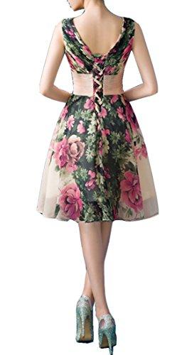 V Kleider Chiffon Brautjungfer Ausschnitt Baumwolle Damen emmani Print B8qS4xvnw