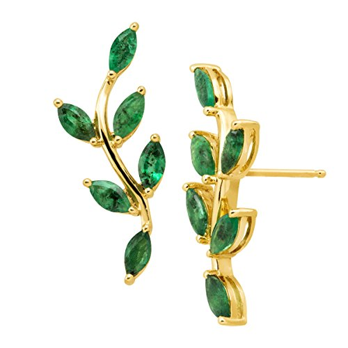 2 Ct Natural Emerald Leaf...