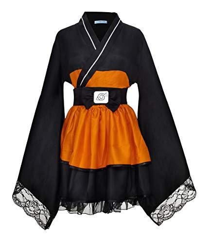 CLLMKL`COS Naruto Shippuden Uzumaki Naruto Female Lolita Kimono Dress