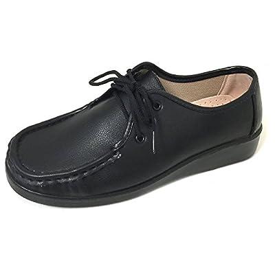 J-WD04 Women's Comfort Work Shoes Lace up Nurse Hotel Restaurant Walking Slip Resistant Oxfords | Oxfords