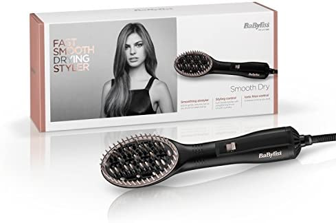 BaByliss Smooth Dry - Cepillo térmico alisador: Amazon.es ...