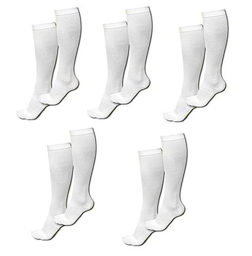 Miracle Compression Socks White Small/Medium