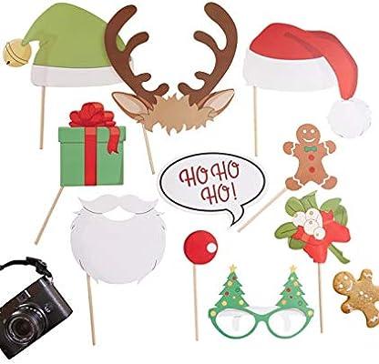 DISOK Pack de photocall Navidad Vintage - Photocall para Navidad, Decoración de Navidad, Navideña: Amazon.es: Juguetes y juegos
