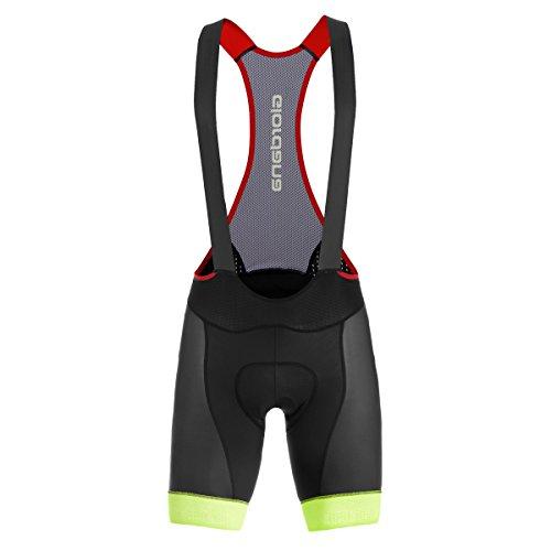 Giordana 2016 Men's Heritage 1988 Trade FRC Cycling Bib Shorts - GI-S6-BIFR-1988 (HERITAGE 1988 - Black /Fluo Yellow/Pink/Grey - XL) - Heritage Bib