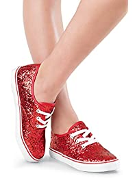 Shoes Girls For Dance Womens Sneakers With Glitter Lace Up Shoes