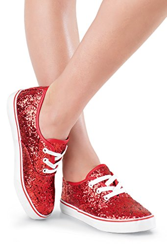 Balera-Shoes-Girls-For-Dance-Womens-Sneakers-With-Glitter-Lace-Up-Shoes-Red-8AM
