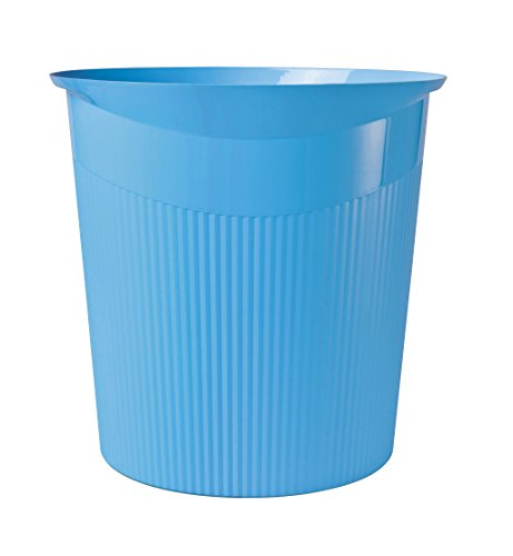 HAN 18140-54, Loop Waste bin. Trend Colour. Young Innovative Design, Stylish, Stable and Versatile, 13 litres, Pack of 6, Trend Colour Light-Blue